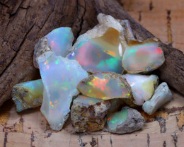 Welo Rough 38.39Ct Natural Ethiopian Play Of Color Rough Opal E0106