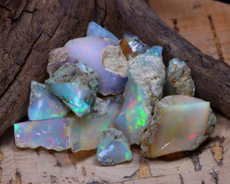 Welo Rough 36.45Ct Natural Ethiopian Play Of Color Rough Opal E0109