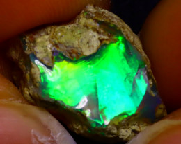 8.78Ct Multi Color Play Ethiopian Welo Opal Rough JF0501/R2