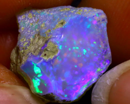 9.96Ct Multi Color Play Ethiopian Welo Opal Rough JF0504/R2