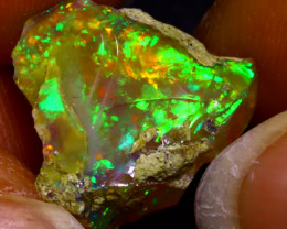 7.75Ct Multi Color Play Ethiopian Welo Opal Rough JF0507/R2