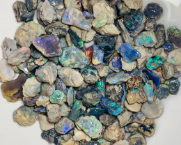 Colourful & Bright Nobby Opals - Lots of Colours & Good Potential