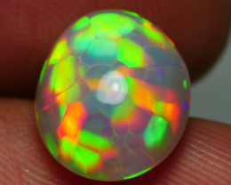 4.825CRT AMAZING 5/5 RAINBOW HONEYCOMB PATTERN WELO OPAL