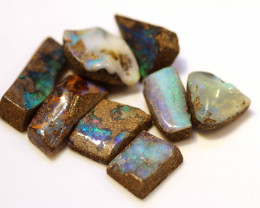 8 = 115cts faced up Australian Boulder Opals ML02082