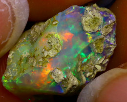 8.50Ct Multi Color Play Ethiopian Welo Opal Rough J0616/R2