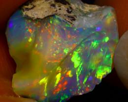 7.60Ct Multi Color Play Ethiopian Welo Opal Rough J0619/R2