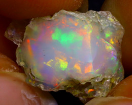 7.05Ct Multi Color Play Ethiopian Welo Opal Rough J0621/R2