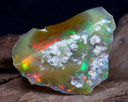 Welo Rough 25.50Ct Natural Ethiopian Play Of Color Rough Opal F0307