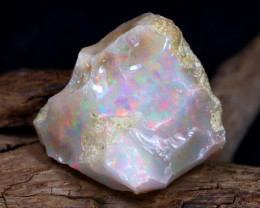 Welo Rough 30.03Ct Natural Ethiopian Play Of Color Rough Opal D0306