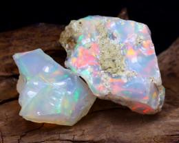 Welo Rough 15.36Ct Natural Ethiopian Play Of Color Rough Opal E0410