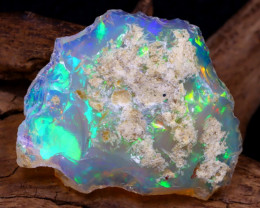 18.96Ct Bright Color Natural Ethiopian White Welo Opal DT0003