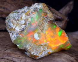 15.32Ct Bright Color Natural Ethiopian White Welo Opal DT0004