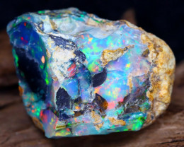 24.90Ct Bright Color Natural Ethiopian White Welo Opal DT0012