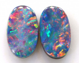 0.40 CTS  OPAL DOUBLET  STONE PAIR  LO-6061