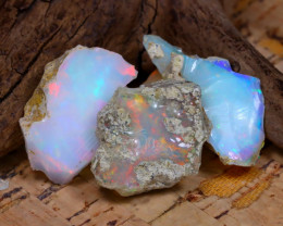 Welo Rough 24.24Ct Natural Ethiopian Play Of Color Rough Opal D0503
