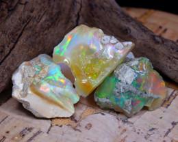 Welo Rough 41.76Ct Natural Ethiopian Play Of Color Rough Opal E0507