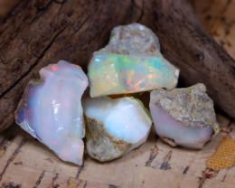 Welo Rough 36.14Ct Natural Ethiopian Play Of Color Rough Opal E0510