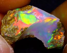 5.43Ct Multi Color Play Ethiopian Welo Opal Rough J0716/R2