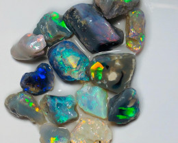 Super Bright Multicolour Nobby Opals - Potential Rough