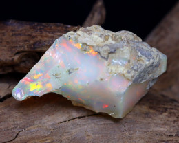 9.72Ct Bright Color Natural Ethiopian Welo Opal Rough DT0035