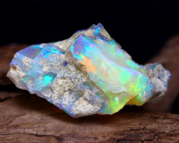 28.79Ct Bright Color Natural Ethiopian Welo Opal Rough DT0040