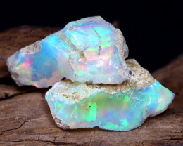 11.76Ct Bright Color Natural Ethiopian Welo Opal Rough DT0042