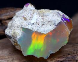 17.24Ct Bright Color Natural Ethiopian Welo Opal Rough DT0046