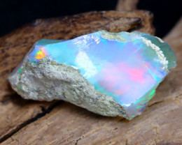 8.88Ct Bright Color Natural Ethiopian Welo Opal Rough DT0067