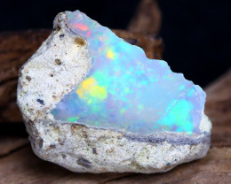 8.24Ct Bright Color Natural Ethiopian Welo Opal Rough DT0072