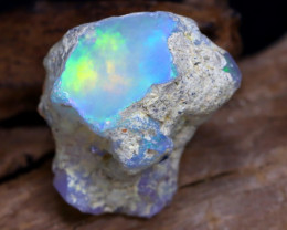 11.96Ct Bright Color Natural Ethiopian Welo Opal Rough DT0080