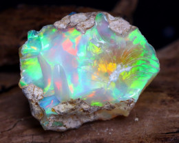13.25Ct Bright Color Natural Ethiopian Welo Opal Rough DT0087