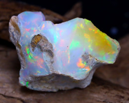 16.26Ct Bright Color Natural Ethiopian Welo Opal Rough DT0090