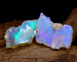 16.80Ct Bright Color Natural Ethiopian Welo Opal Rough DT0097