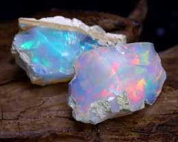 16.43Ct Bright Color Natural Ethiopian Welo Opal Rough DT0098