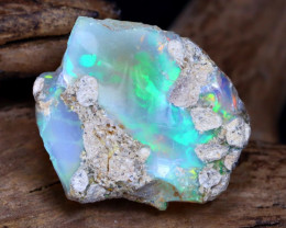 9.80Ct Bright Color Natural Ethiopian Welo Opal Rough DT0104