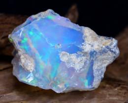 11.12Ct Bright Color Natural Ethiopian Welo Opal Rough DT0113