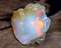 10.97Ct Bright Color Natural Ethiopian Welo Opal Rough DT0115