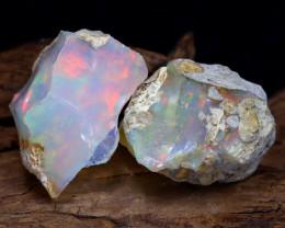 17.24Ct Bright Color Natural Ethiopian Welo Opal Rough DT0125