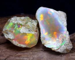19.73Ct Bright Color Natural Ethiopian Welo Opal Rough DT0130