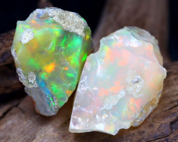 16.37Ct Bright Color Natural Ethiopian Welo Opal Rough DT0140