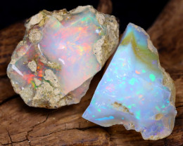 25.09Ct Bright Color Natural Ethiopian Welo Opal Rough DT0143
