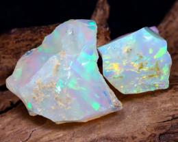 14.23Ct Bright Color Natural Ethiopian Welo Opal Rough DT0145