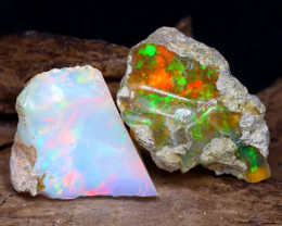 11.27Ct Bright Color Natural Ethiopian Welo Opal Rough DT0151