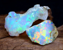 Welo Rough 11.59Ct Natural Ethiopian Play Of Color Rough Opal D0603
