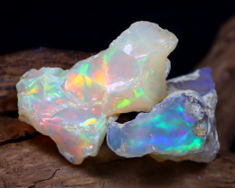 Welo Rough 17.33Ct Natural Ethiopian Play Of Color Rough Opal D0604