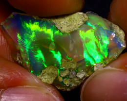 8.57Ct Multi Color Play Ethiopian Welo Opal Rough J0807/R2
