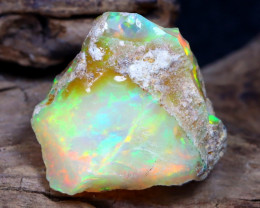 9.74Ct Bright Color Natural Ethiopian Welo Opal Rough DT0164