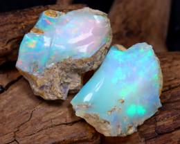 13.06Ct Bright Color Natural Ethiopian Welo Opal Rough DT0169