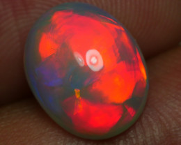 2.890 CRT GORGEUS ROLLING FLASH RED FIRE COLOR WELO OPAL