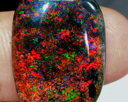 AMAZING LIGHT RED GALAXY ANDAMOOKA SPECIMEN.